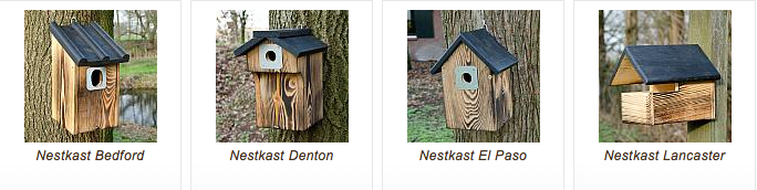 Vogelshuisje|Nestkasten gevlamd hout